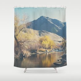down by the river ... Shower Curtain