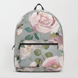 Hand Drawn Pastel Guache Claude Monet Botanical Flower Garden Backpack