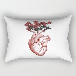 anatomical heart with flowers Rectangular Pillow