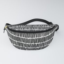 Infinite Lines Pattern - Black Fanny Pack