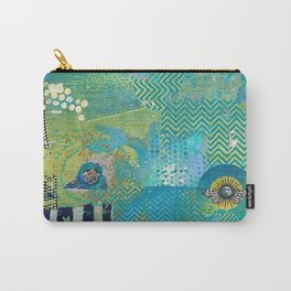 Afterlife Abstract Art Collage Carry-All Pouch
