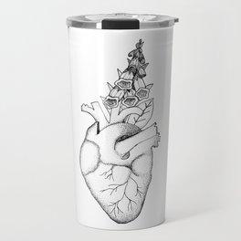 Digitalis II (black on white) Travel Mug