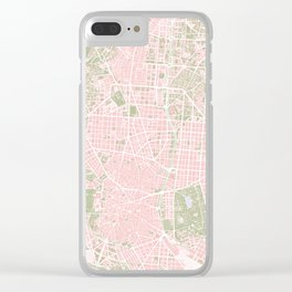 Madrid map vintage Clear iPhone Case