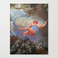 thundercats Canvas Prints featuring Thunder Swing by Hillary White