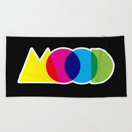 Mood Meme Colorful Geometric Typography Beach Towel