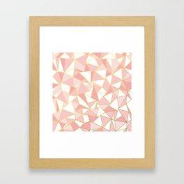 Ab Out Blush Gold 2 Framed Art Print