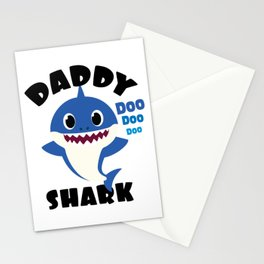Daddy Shark graphic Gift - Cute Baby Shark Matching Family Stationery Cards