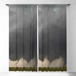 Time-Lapse Photography of the Evolution of a Tornado color photograph by Jason Weingart Blackout Curtain