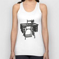 sewing Tank Tops featuring Singer sewing machine by eARTh
