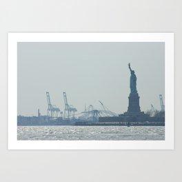 Statue of Liberty from Manhattan Art Print