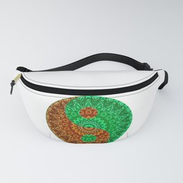 Green-brown Yin a Yang Fanny Pack