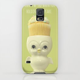You can't be sad when you're holding a cupcake. iPhone Case