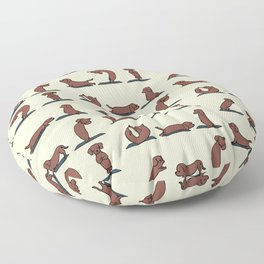 Dachshund yoga Floor Pillow