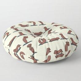Dachshund yoga Floor Pillow