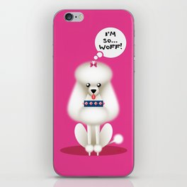 Chic Poodle iPhone Skin