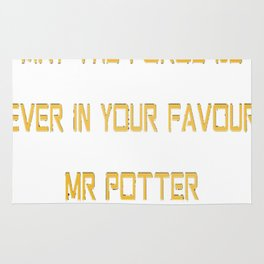 May The Force Be Ever In Your Favour Mr. Potter Rug