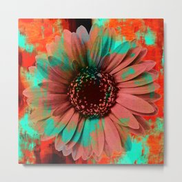 Lysergic Flower Metal Print