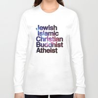 religion Long Sleeve T-shirts featuring RELIGION by CHAD MIZE /// CHIZZY