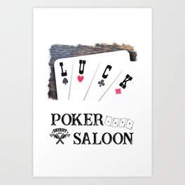 Welcome to the Poker Saloon Art Print