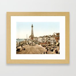 The Promenade at Blackpool, Lancashire, England 1898 Framed Art Print