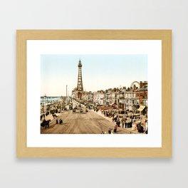 The Promenade at Blackpool, Lancashire, England 1898 Framed Art Print
