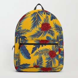 Abstract roses and leaves pattern Backpack