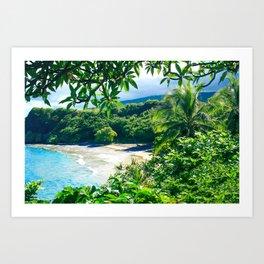 Hamoa Beach Hana Maui Hawaii Art Print