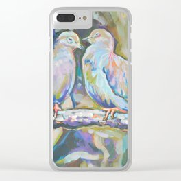 Mourning Doves Clear iPhone Case