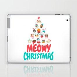 Meowy Christmas | Cat Xmas Tree Decoration Laptop & iPad Skin