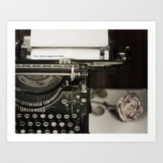 Your Story begins at Home Art Print