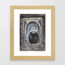 Through The Stone Archway Magic Breaths  Framed Art Print