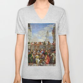 "Veronese (Paolo Caliari) ""The Wedding at Cana"" Unisex V-Neck"