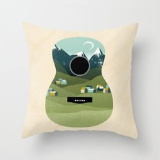 Rocky Mountain High - Guitar Throw Pillow