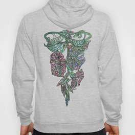 Art Nouveau Morning Glory Isolated Hoody