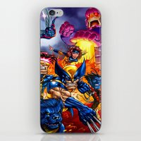 x men iPhone & iPod Skins featuring X - MEN by Vincent Trinidad
