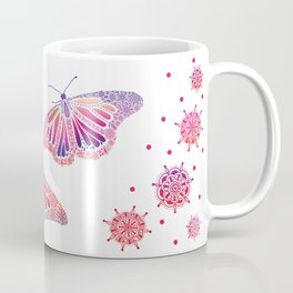 Touchy Butterfly  Coffee Mug