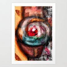 Central Thinking Art Print