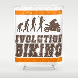 Evolution Biking | Motorcycle Street Speed Shower Curtain