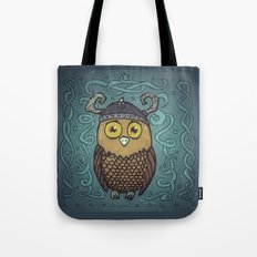 Brave Viking Owl Tote Bag