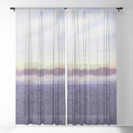 Sunrise # 1 / Watercolor Painting Sheer Curtain