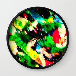 Christmas is a blur 2 - Anne_Black Wall Clock