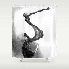 Dine with fine wine Shower Curtain