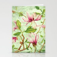 magnolia Stationery Cards featuring Magnolia by CatDesignz
