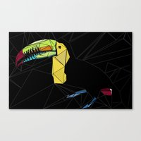 toucan Canvas Prints featuring TOUCAN by ARCHIGRAF