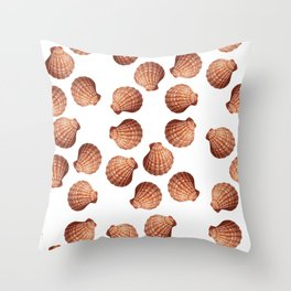 White big Clam pattern Illustration design Throw Pillow
