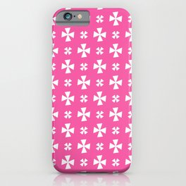 Greek Cross 7- pink iPhone Case