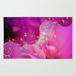 Wonderful floral design in ultra violet Rug