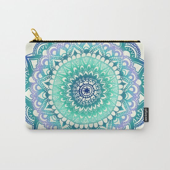 Deep Forest Flower Carry-All Pouch
