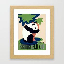 Vintage poster - Brookfield Zoo Framed Art Print