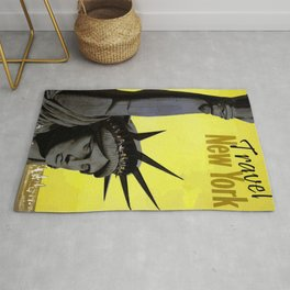 Vintage New York Poster Rug